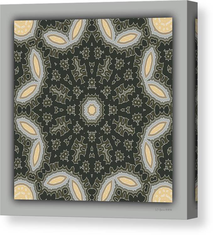 Kaleidoscope Canvas Print featuring the digital art Sand and Shadows 1 by Lynn Evenson