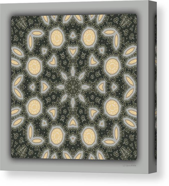 Kaleidoscope Canvas Print featuring the digital art Sand and Shadows 2 by Lynn Evenson