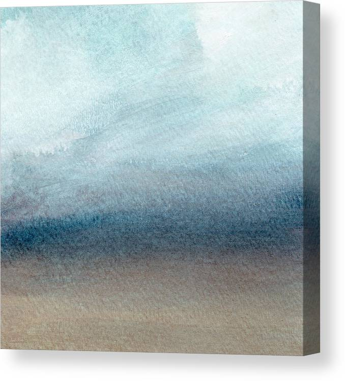 Beach Canvas Print featuring the painting Sandy Shore- Art by Linda Woods by Linda Woods