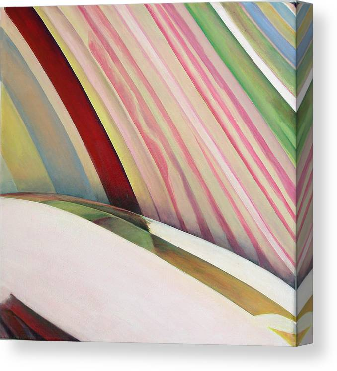 Abstract Canvas Print featuring the painting Sens 1 by Muriel Dolemieux