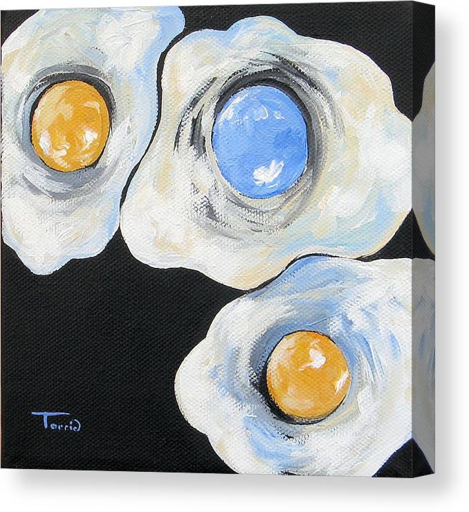 Chapel Hill Canvas Print featuring the painting Tar Heel Born - Tar Heel Bred IV by Torrie Smiley
