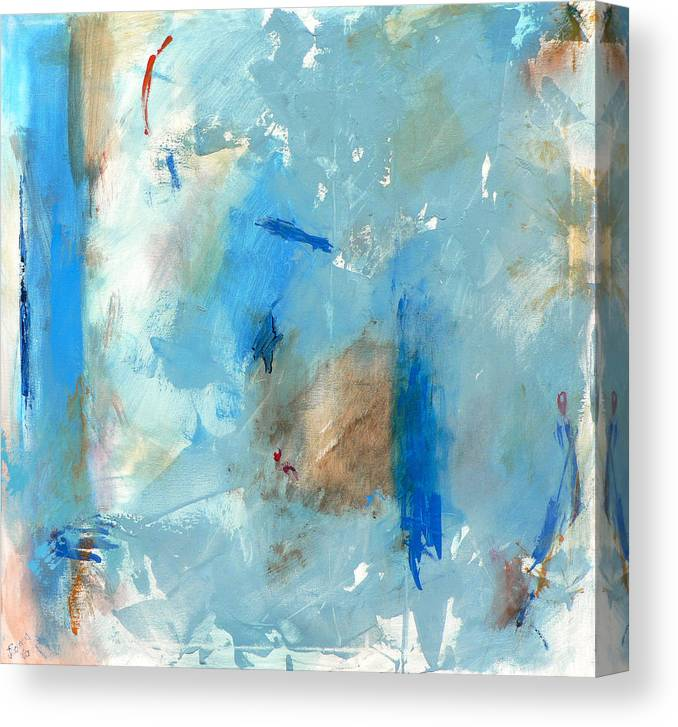 Abstract Canvas Print featuring the painting The Blues by Jacquie Gouveia