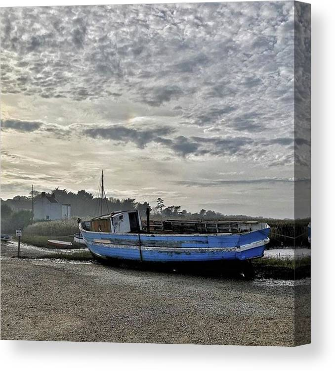 Beautiful Canvas Print featuring the photograph The Fixer-upper, Brancaster Staithe by John Edwards