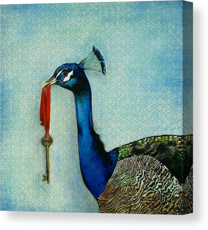 The Key To Success Canvas Print featuring the painting The Key To Success by Carrie Jackson