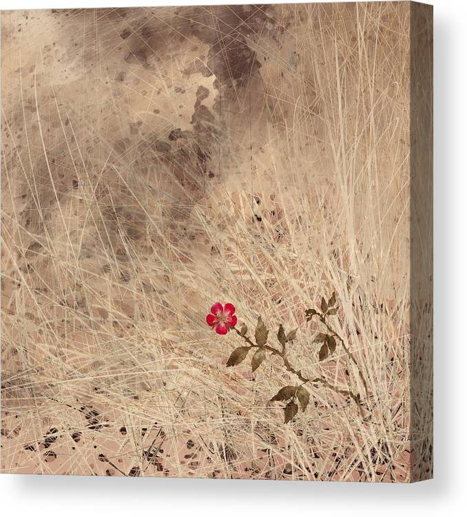 Abstract Canvas Print featuring the digital art The Last Blossom by William Russell Nowicki
