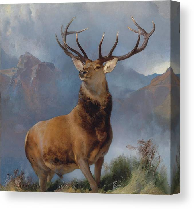 "The Monarch of the Glen  by Edwin Landseer Fine Art Giclee Canvas Print 8/""x8/"""