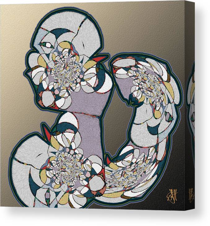 Abstract. Canvas Print featuring the digital art Think About It by John Helgeson