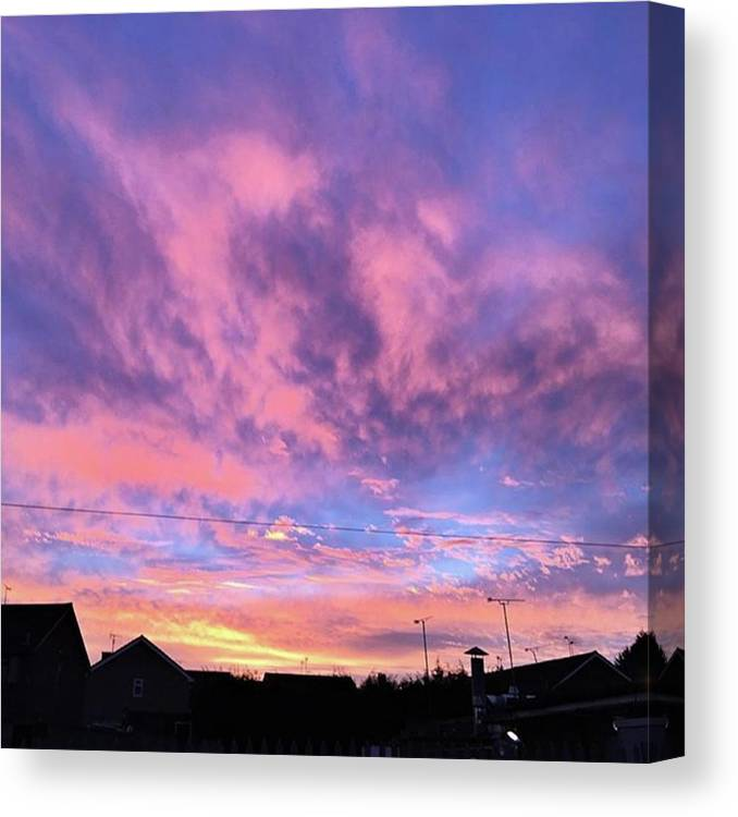Natureonly Canvas Print featuring the photograph Tonight's Sunset Over Tesco :) #view by John Edwards