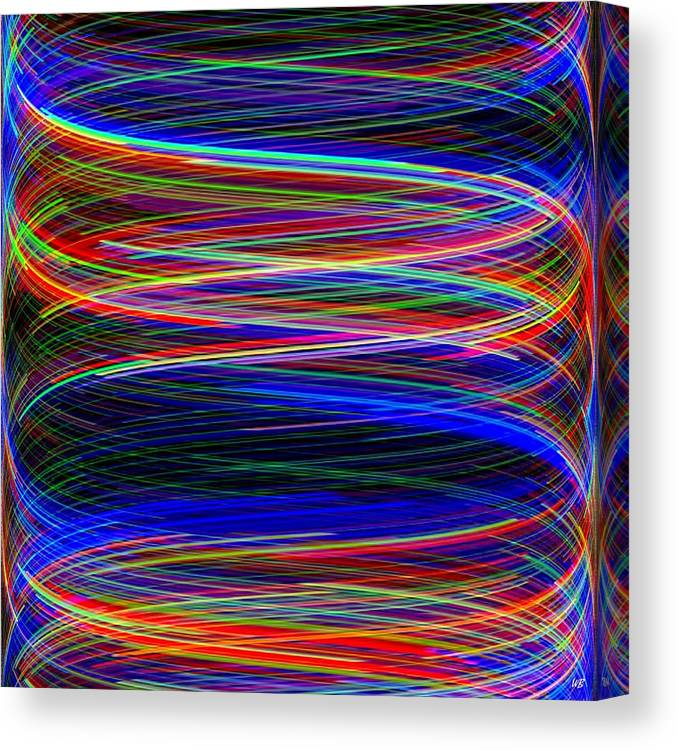 Abstract Canvas Print featuring the digital art Upwardly Mobile by Will Borden