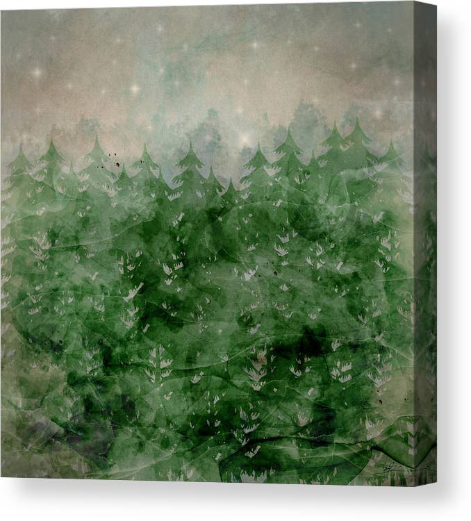 Wilderness Canvas Print featuring the painting Where Wild Stars Fall by Bri Buckley