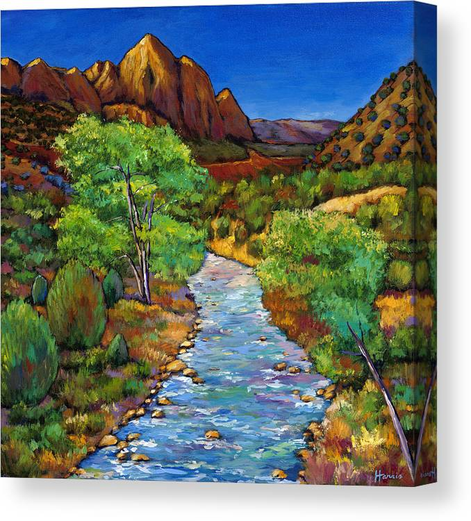 National Parks Canvas Print featuring the painting Zion by Johnathan Harris