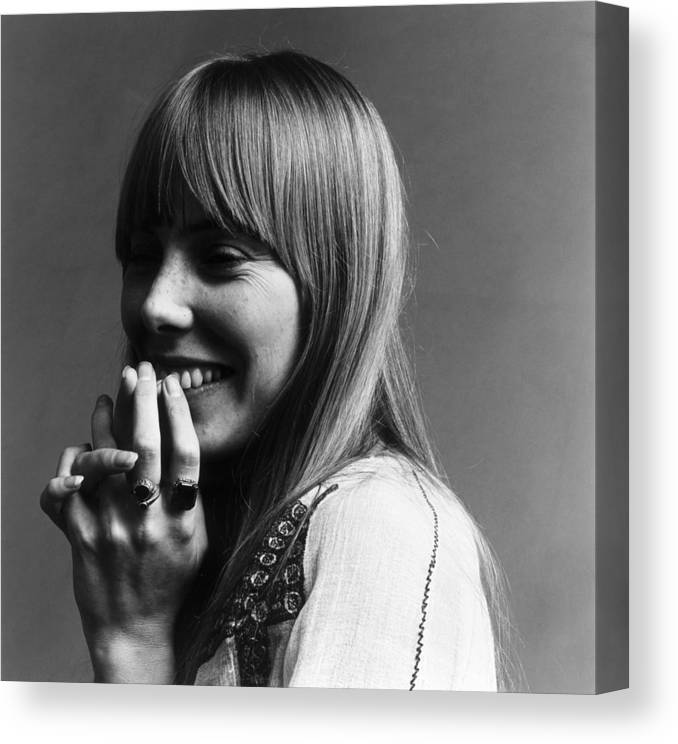 People Canvas Print featuring the photograph Joni Mitchell by Jack Robinson