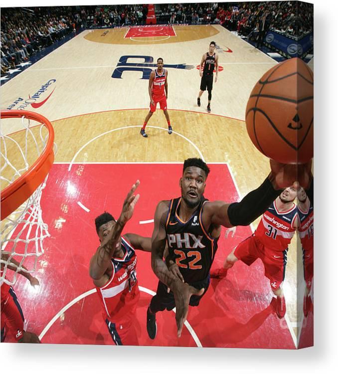 Nba Pro Basketball Canvas Print featuring the photograph Phoenix Suns V Washington Wizards by Ned Dishman