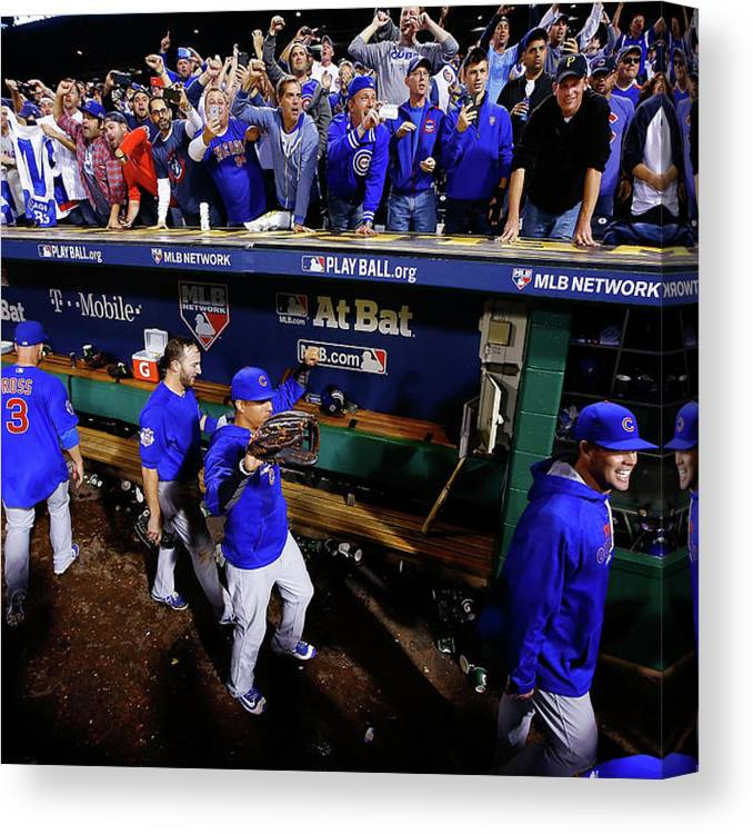 Playoffs Canvas Print featuring the photograph Wild Card Game - Chicago Cubs V by Jared Wickerham