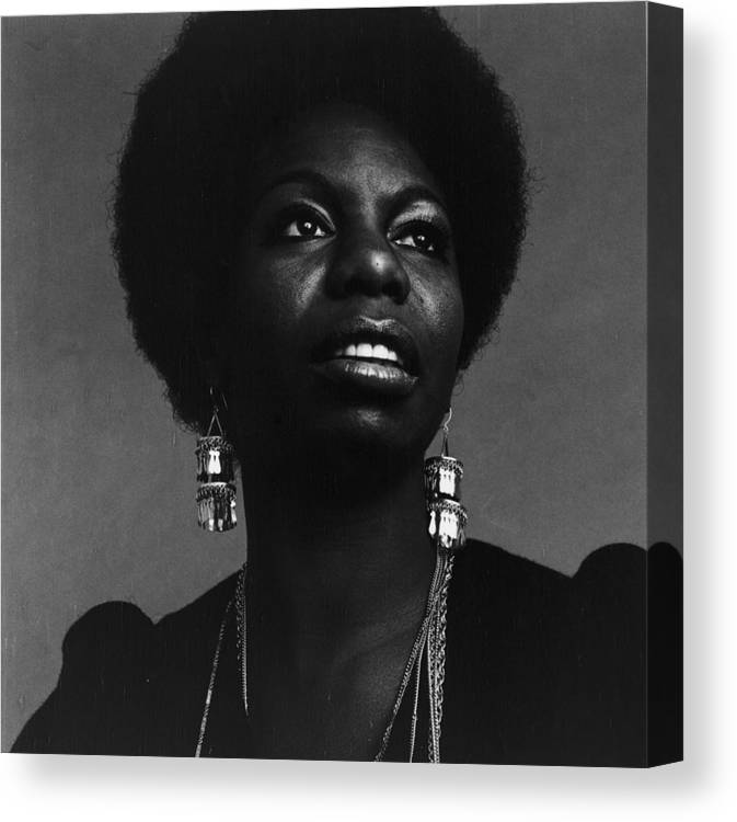 Singer Canvas Print featuring the photograph Nina Simone by Jack Robinson