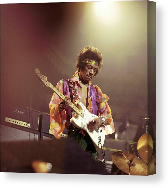 Music Canvas Print featuring the photograph Photo Of Jimi Hendrix by David Redfern