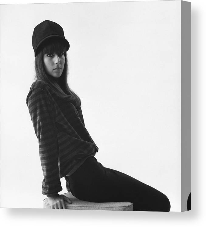 Cher - Performer Canvas Print featuring the photograph Cher Portrait Session by Michael Ochs Archives