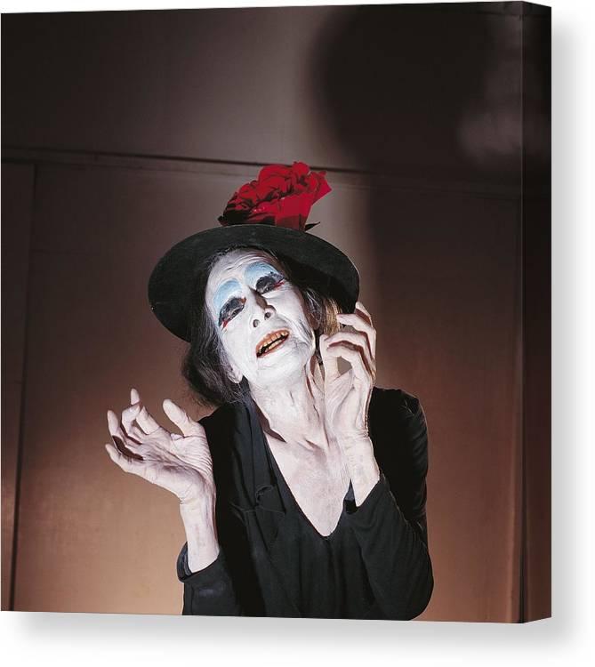 Yokohama Canvas Print featuring the photograph Dance Buto, Kazuo Ohno In Yokohama by Herve Bruhat