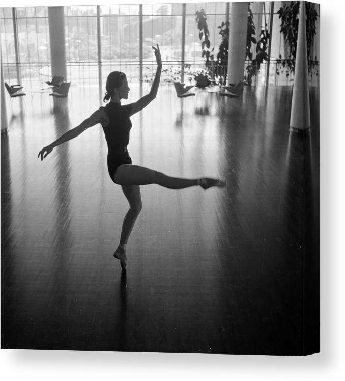 Ballet Dancer Canvas Print featuring the photograph Daphne Dale Dances by John Chillingworth