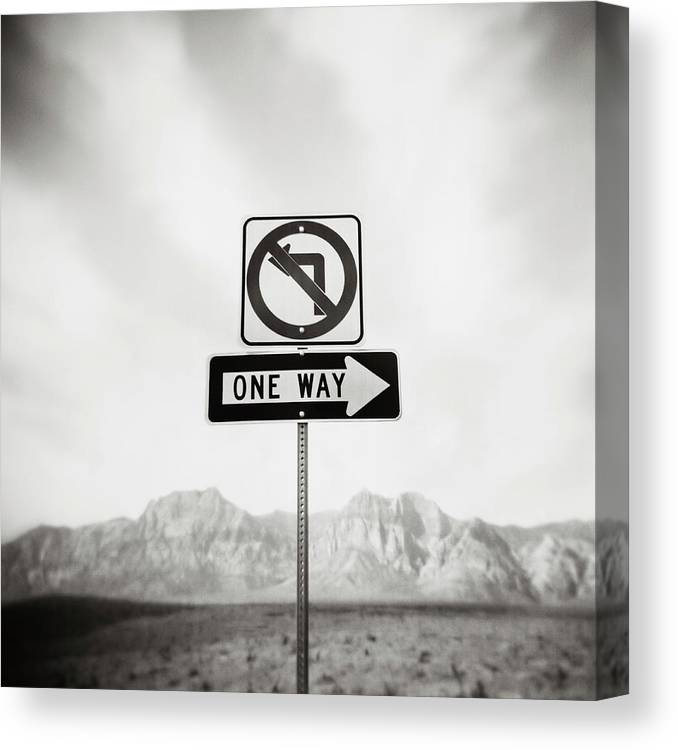 Non-urban Scene Canvas Print featuring the photograph Directional Signs by David Madison