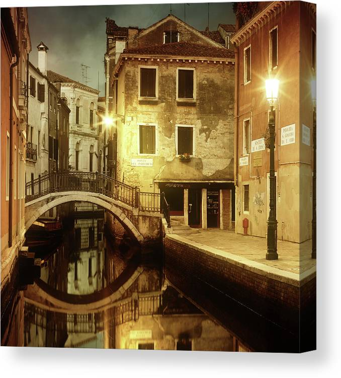 Empty Canvas Print featuring the photograph Dreaming Venice by Mammuth