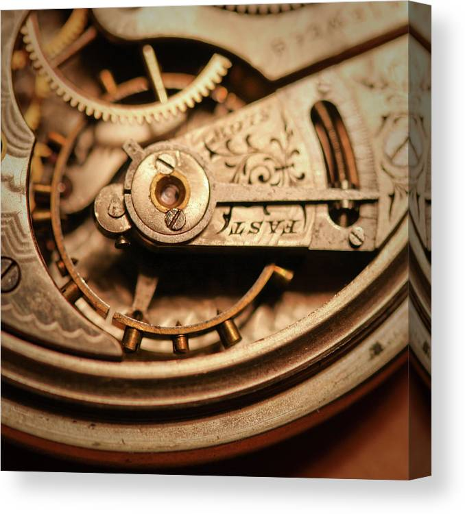 Michigan Canvas Print featuring the photograph Exposing The Inner Workings And Gears by Rudy Malmquist