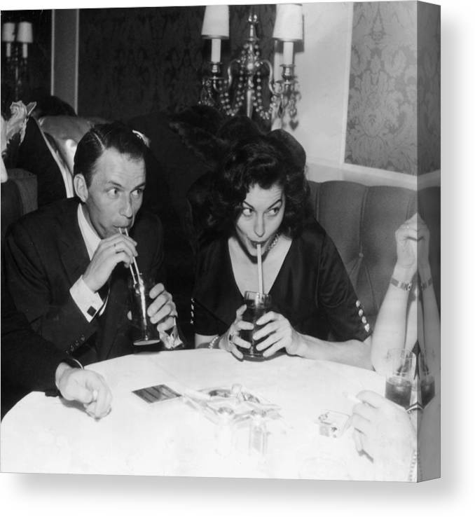 Singer Canvas Print featuring the photograph Frank And Ava by Hulton Archive