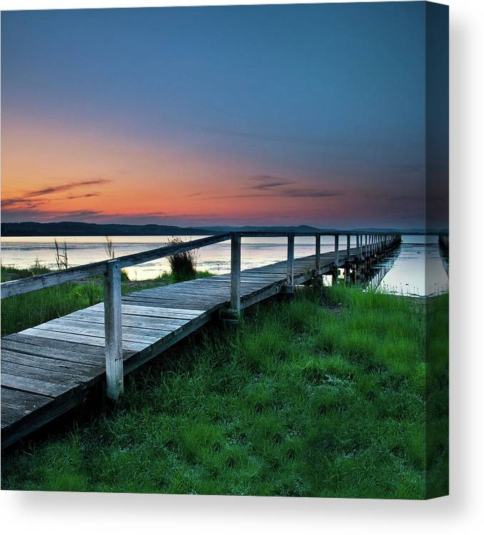 Tranquility Canvas Print featuring the photograph Greener On The Other Side by Photography By Carlo Olegario