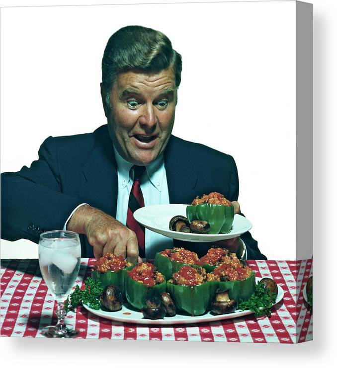 Stuffed Canvas Print featuring the photograph His Favorite Meal by Tom Kelley Archive