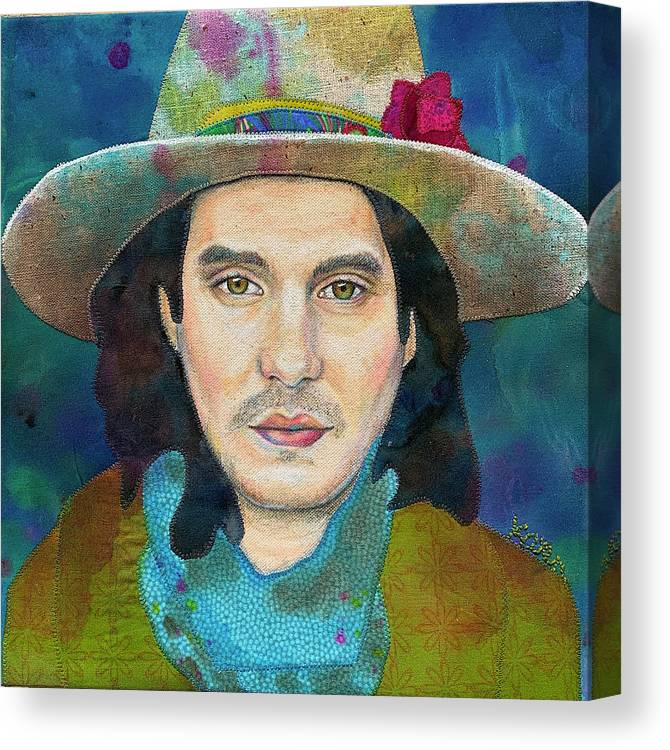 Dead And Co Canvas Print featuring the mixed media John Mayer by Karen Payton