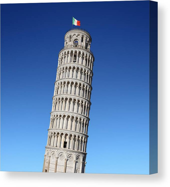 Leaning Canvas Print featuring the photograph Leaning Tower Of Pisa by Narvikk