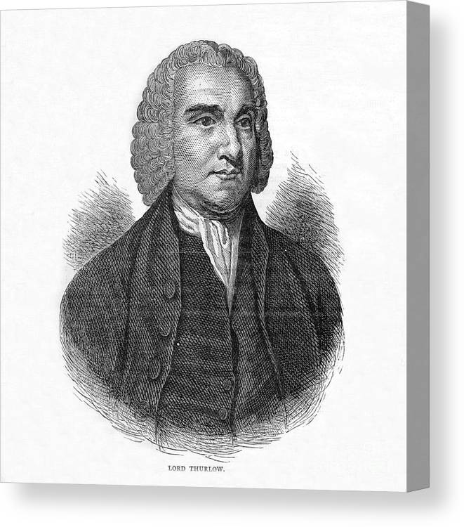 Engraving Canvas Print featuring the drawing Lord Thurlow, British Lawyer And Tory by Print Collector