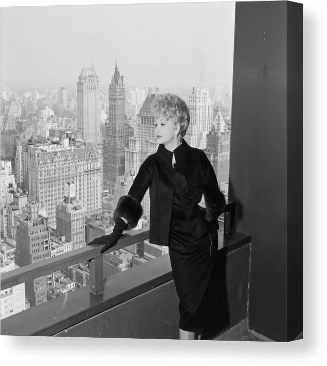 Apartment Canvas Print featuring the photograph Lucille Ball by Hulton Archive