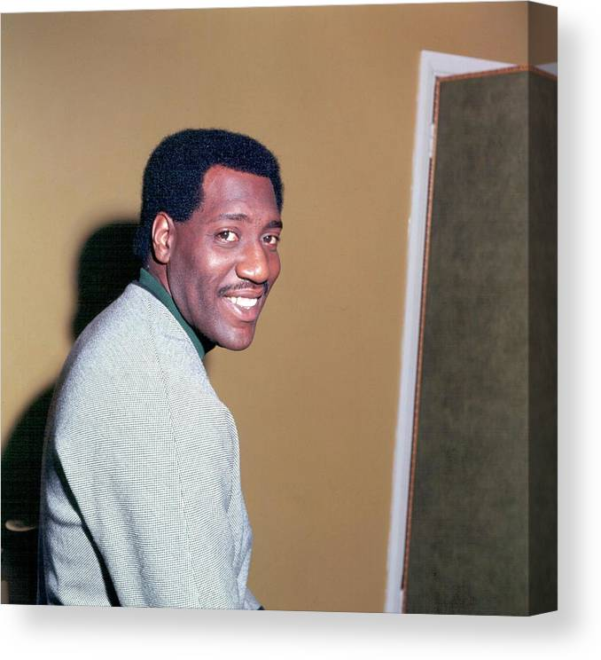 Singer Canvas Print featuring the photograph Otis Redding Portrait In England by Michael Ochs Archives