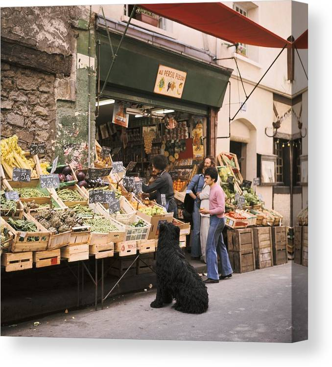 Paris Canvas Print featuring the photograph Paris, Fruit And Vegetable Shop In The by Keystone-france