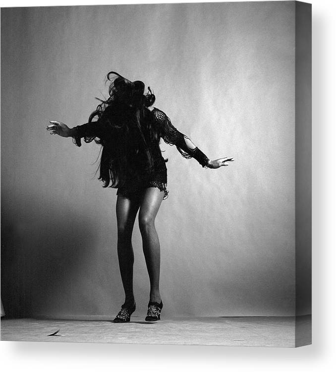 Singer Canvas Print featuring the photograph Portrait Of Tina Turner by Jack Robinson