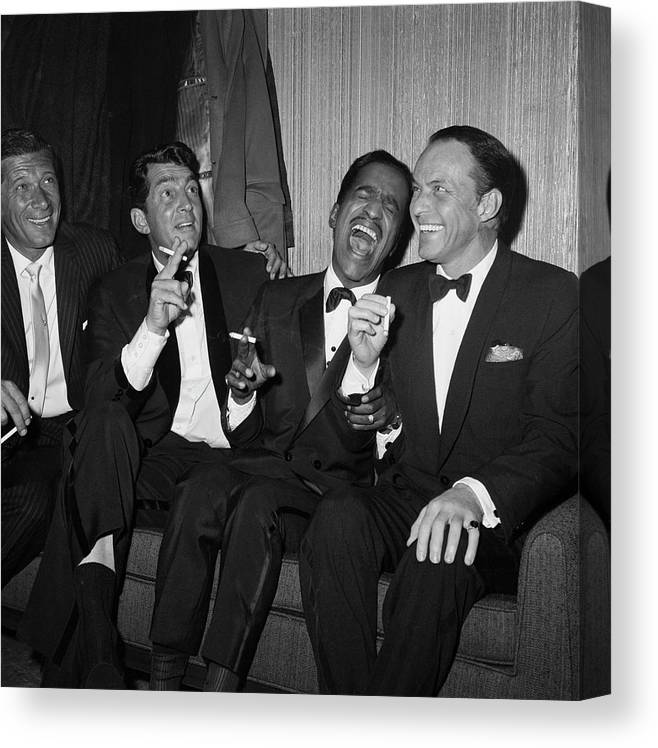 Charity Benefit Canvas Print featuring the photograph Rat Pack At Carnegie Hall by Bettmann
