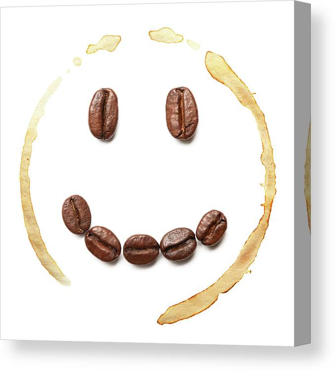 Spray Canvas Print featuring the photograph Smile Coffee Beans by T kimura
