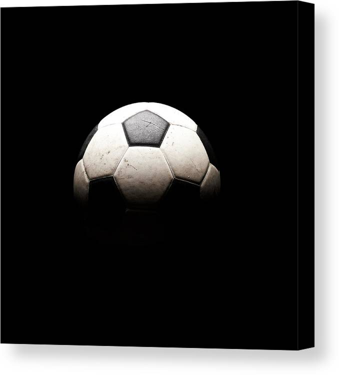 Shadow Canvas Print featuring the photograph Soccer Ball In Shadows by Thomas Northcut