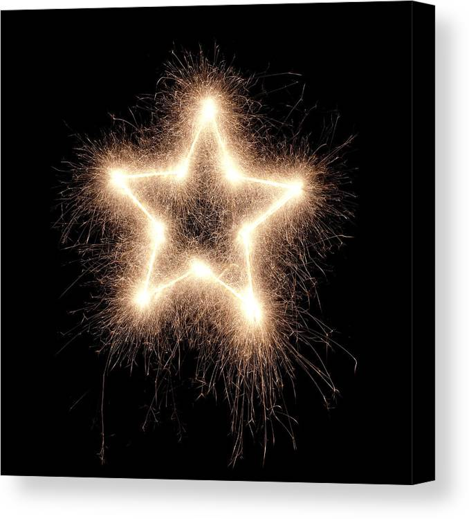 Holiday Canvas Print featuring the photograph Sparkling Star by Amriphoto