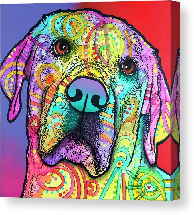 Starry Lab Canvas Print featuring the mixed media Starry Lab by Dean Russo