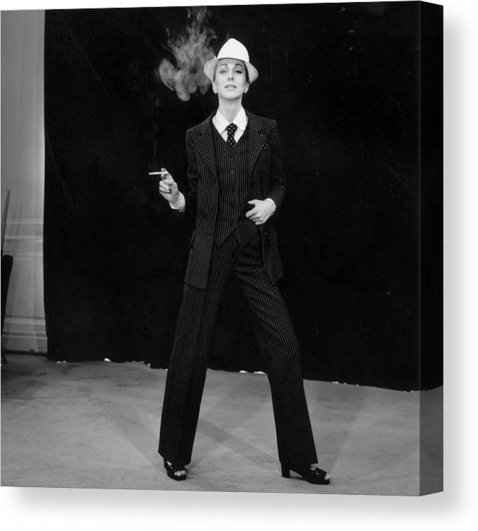 Smoking Canvas Print featuring the photograph Suited Fashion by Reg Lancaster