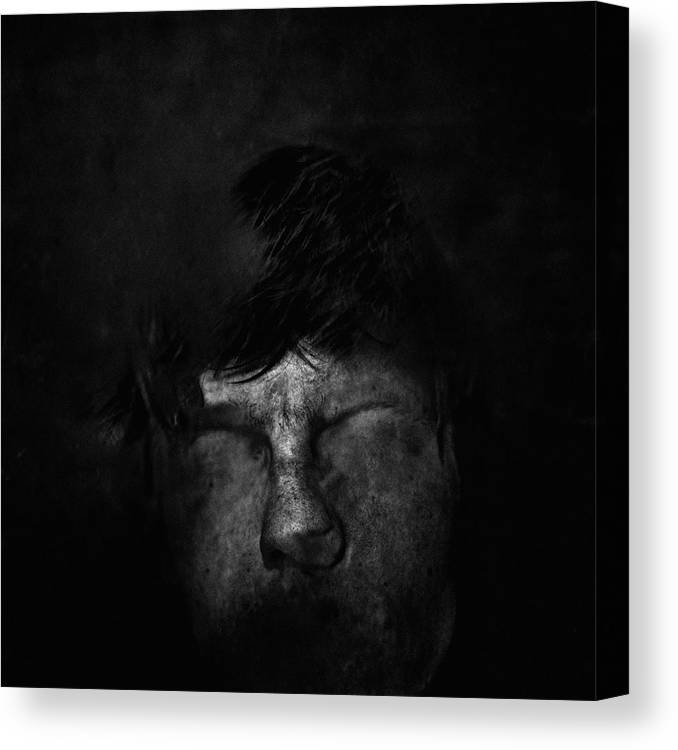 People Canvas Print featuring the photograph Sweden, Stockholm, Distorted Face by Win-initiative