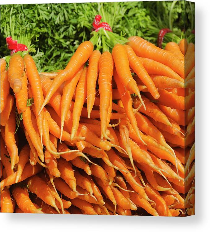 Large Group Of Objects Canvas Print featuring the photograph Usa, New York City, Carrots For Sale by Tetra Images