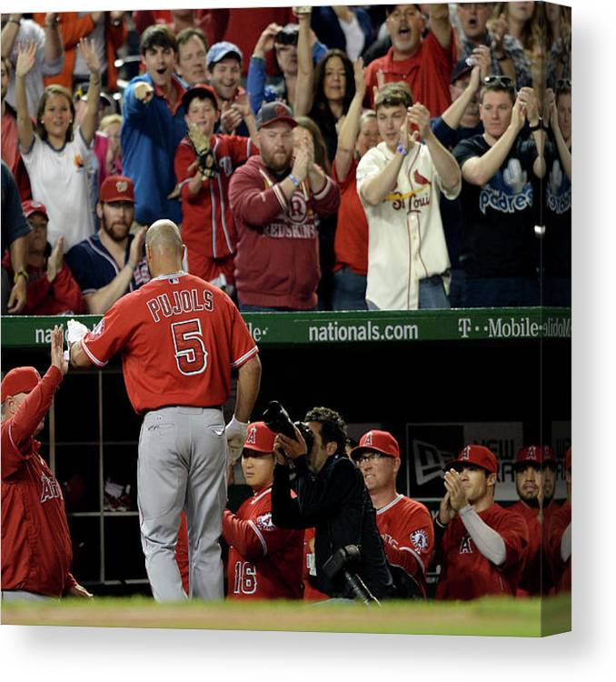 Crowd Canvas Print featuring the photograph Albert Pujols by Patrick Smith