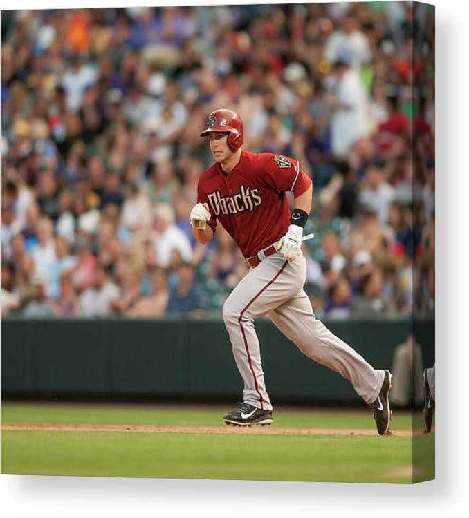 National League Baseball Canvas Print featuring the photograph Paul Goldschmidt by Dustin Bradford