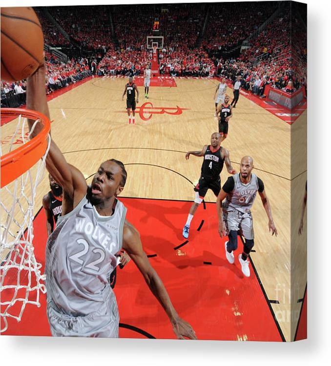 Playoffs Canvas Print featuring the photograph Andrew Wiggins by Bill Baptist