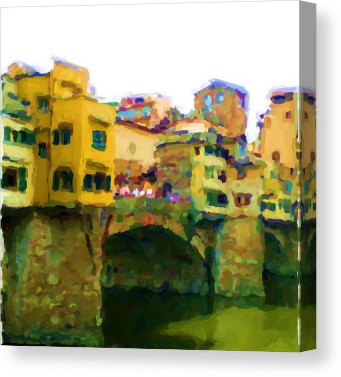 Florence Canvas Print featuring the mixed media Florence by Asbjorn Lonvig