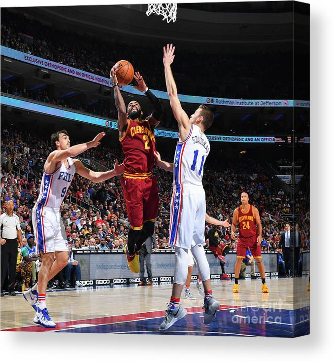 Nba Pro Basketball Canvas Print featuring the photograph Kyrie Irving by Jesse D. Garrabrant