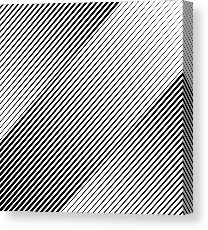 Material Canvas Print featuring the drawing Abstract Background Slope Black Diagonal Lines by Jobalou
